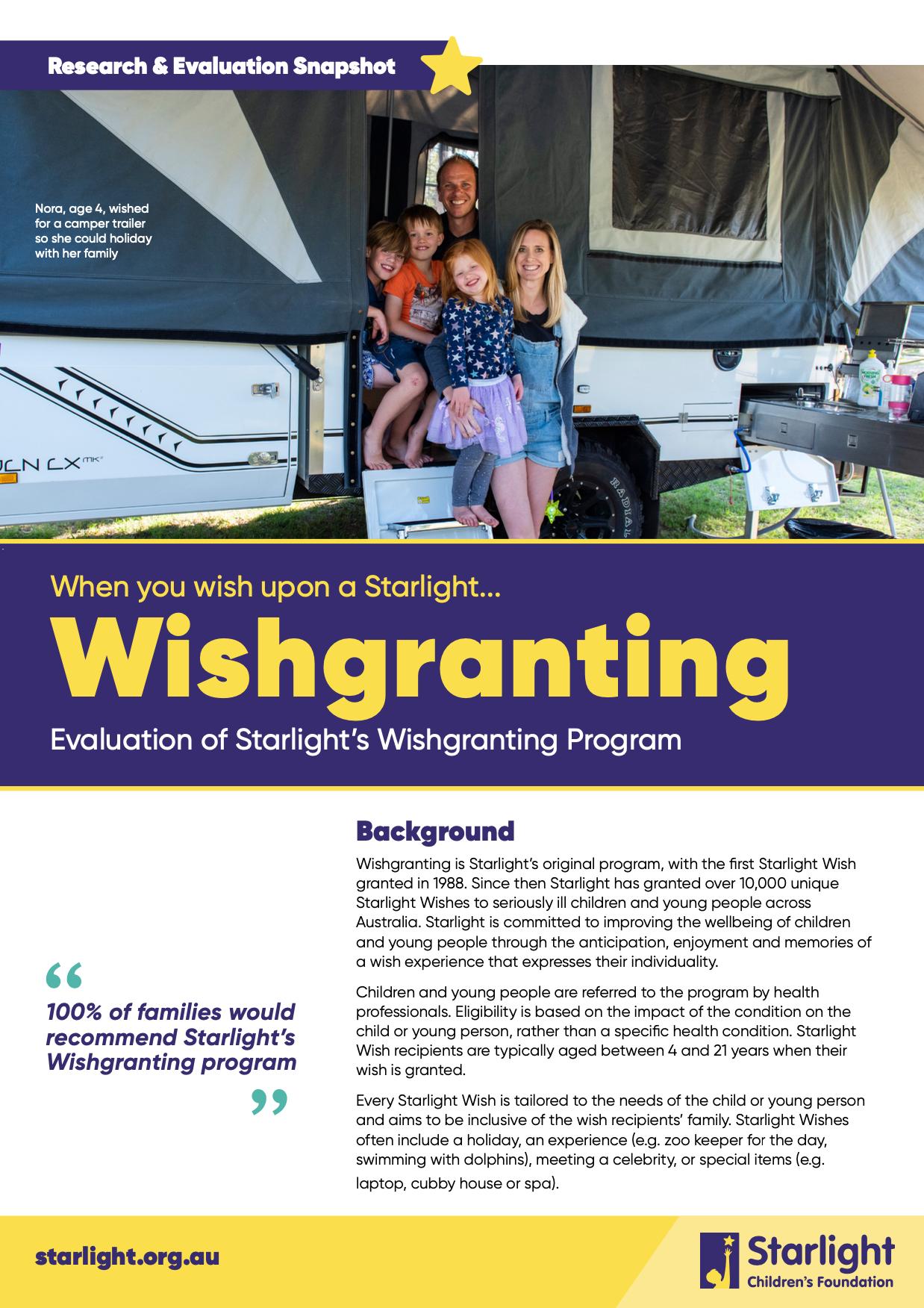 Wishgranting R&E Snapshot