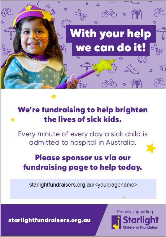 SCF Fundraising poster
